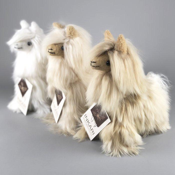 Alpaca Knuffel - Suri alpacawol - Handgemaakt van Alpacawol - Hypoallergeen - Ivoor
