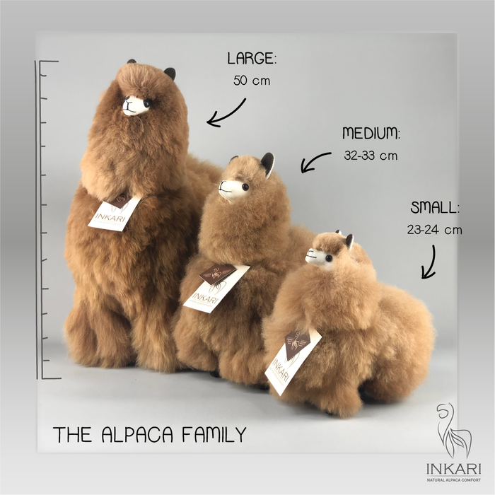 Alpaca Knuffel - Klein - Handgemaakt van Alpacawol - Hypoallergeen - Hazelnoot