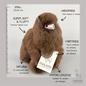 Alpaca Knuffel - Klein - Handgemaakt van Alpacawol - Hypoallergeen - Chocolade