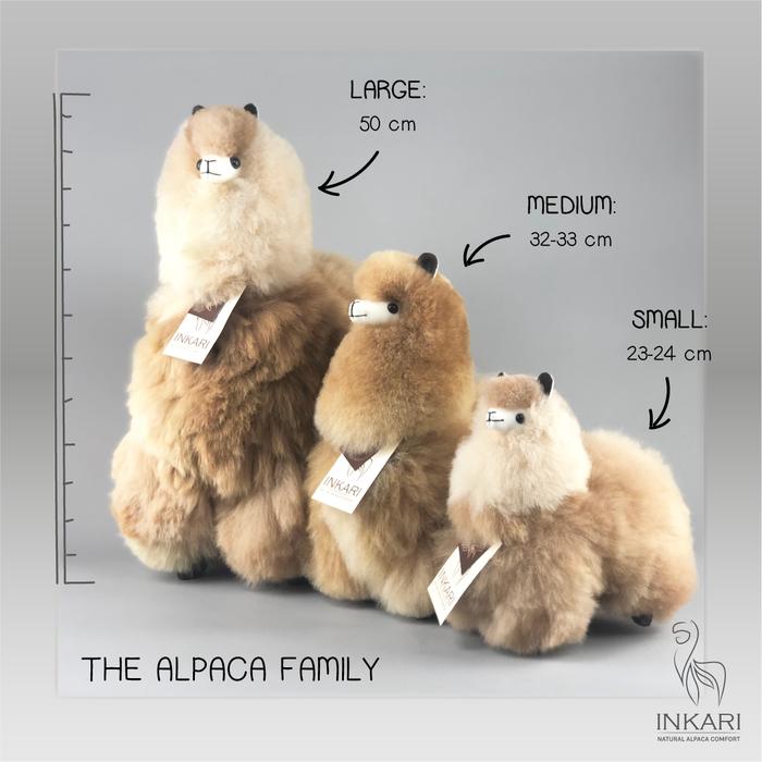Alpaca Toy - Soft & Fluffy - Handmade in Peru - Hypoallergenic - Sandstone