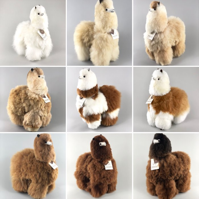 'Big Alpaca' - Fluffy Toy' - Handmade - Hypoallergenic - Brown/White