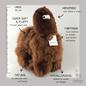 'Grote Alpaca' - Zachte Knuffel - Handgemaakt - Allergie-vrij - Chocolade