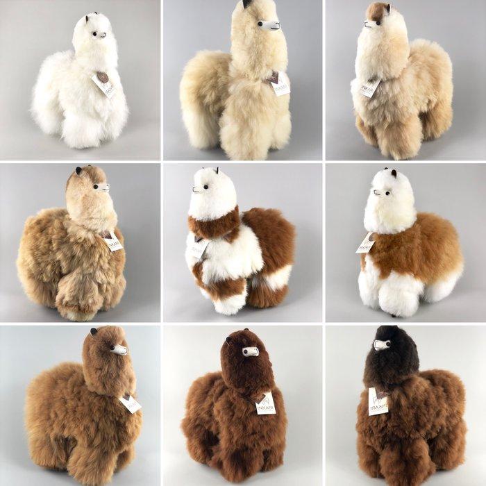 'Grote Alpaca' - Zachte Knuffel - Handgemaakt - Allergie-vrij - Macchiato