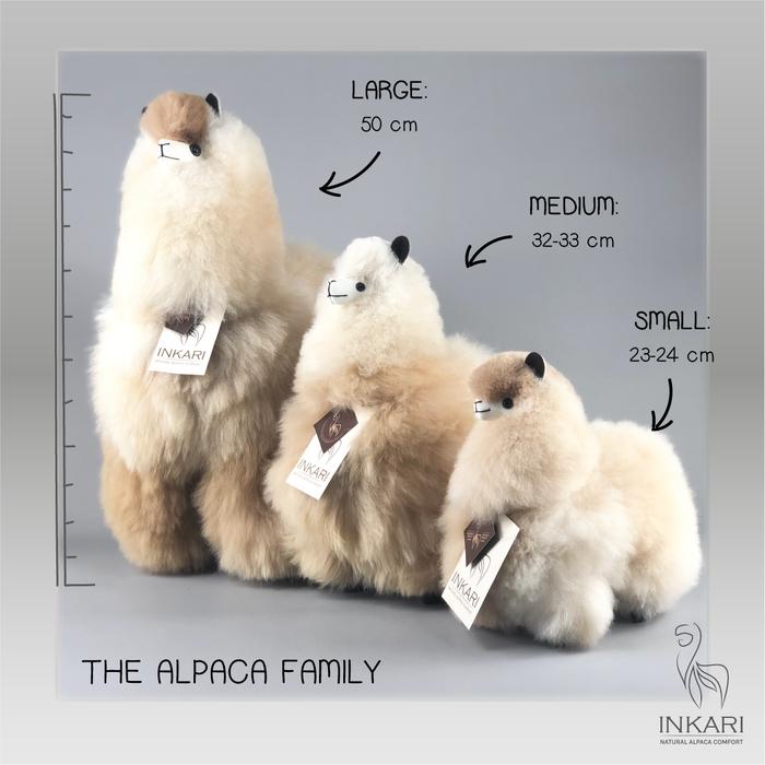 'Big Alpaca' - Fluffy Toy' - Handmade - Hypoallergenic - Sahara