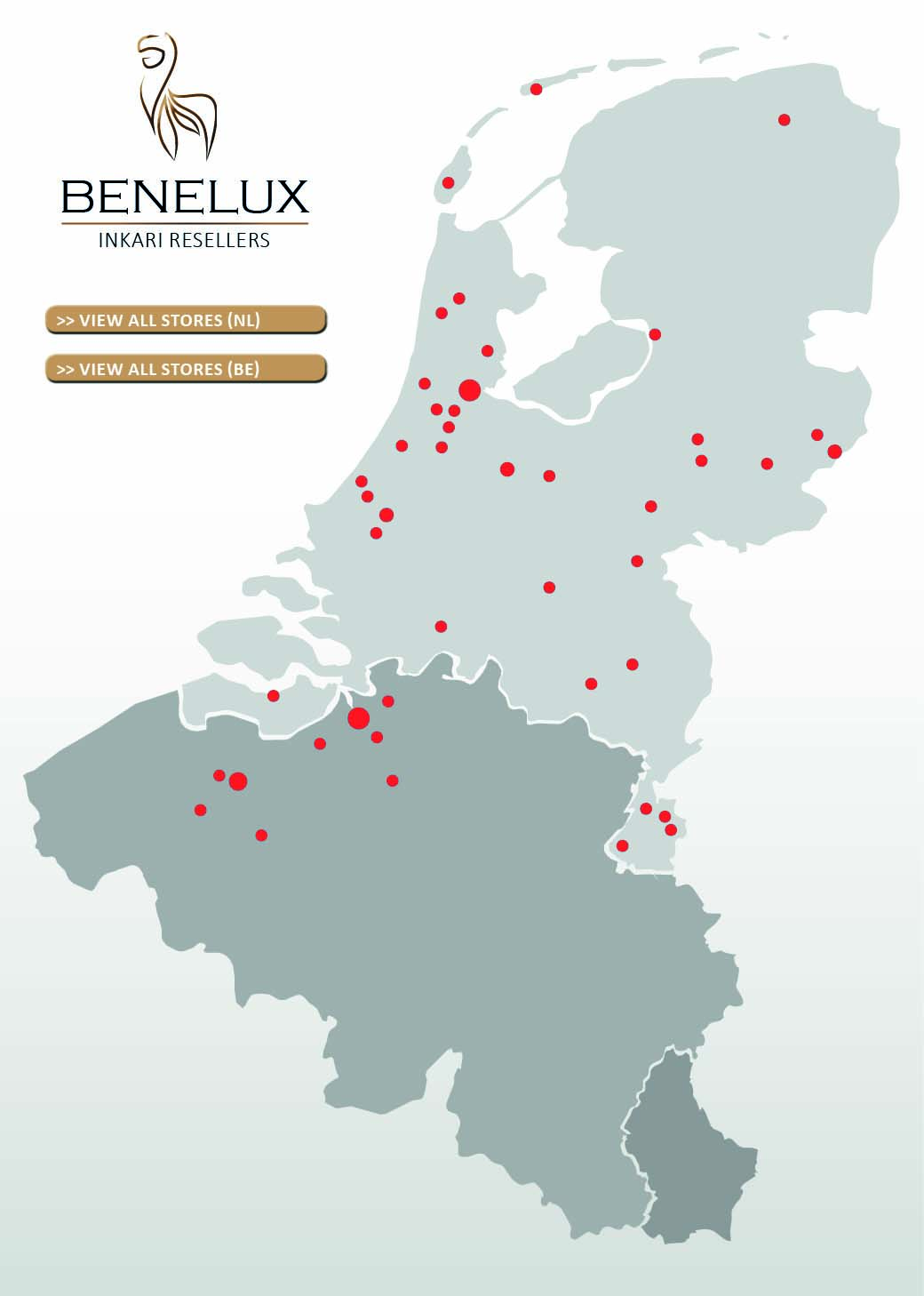 Reseller Map - NL + BE - Inkari