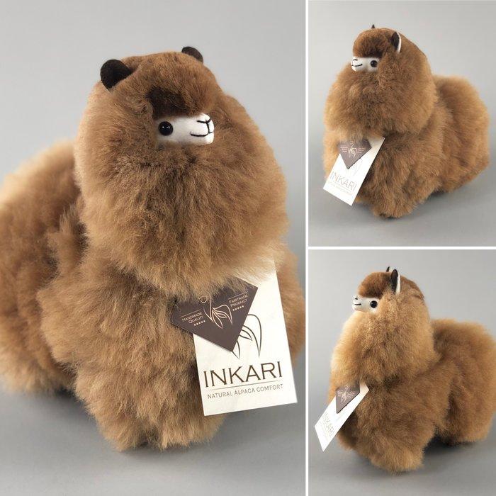 Alpaca Toy - Soft & Fluffy - Handmade in Peru - Hypoallergenic - Caramel