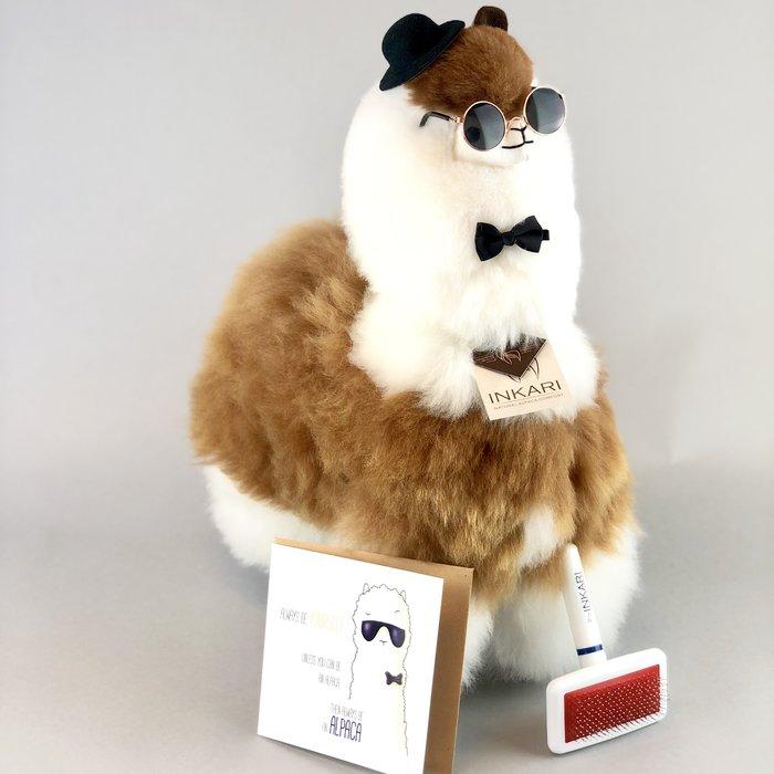 Big Alpaca Toy - Fluffy Toy  - Macchiato
