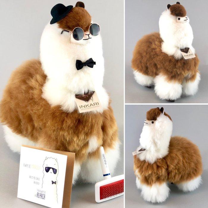 'Grote Alpaca' - Zachte Alpaca Knuffel - Handgemaakt - Allergie-vrij - Macchiato