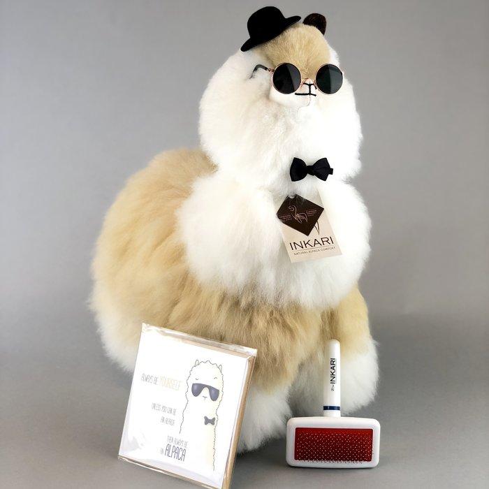 Big Alpaca Toy ❤  Stuffed Animal ❤ Blond/Ivory