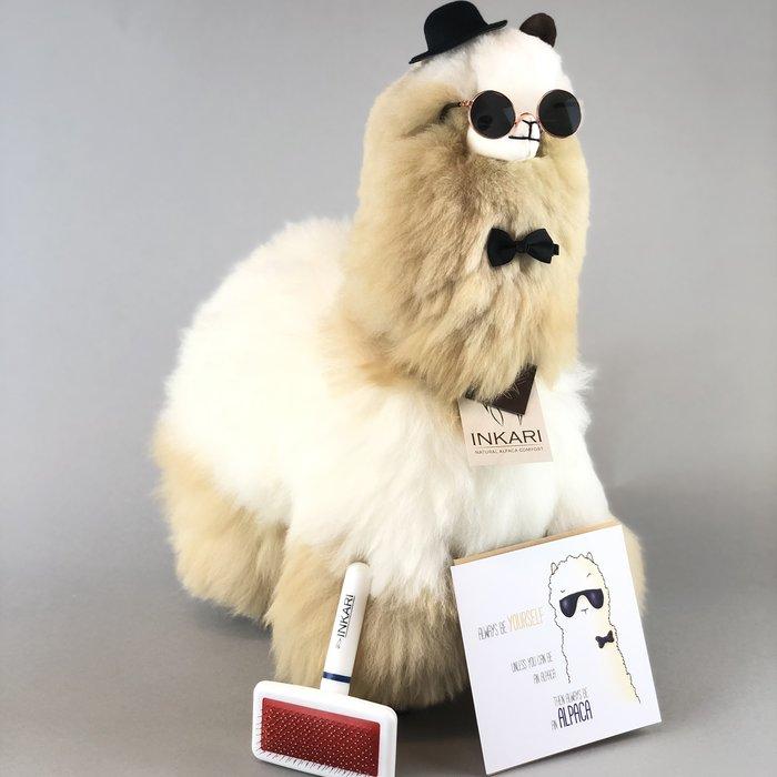 'Big Alpaca' - Fluffy Toy' - Handmade - Hypoallergenic - Blond/Ivory