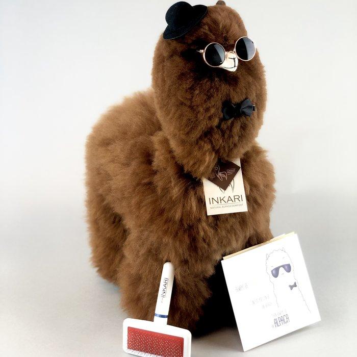 ❤ Grote Alpaca Knuffel ❤  Chocolade