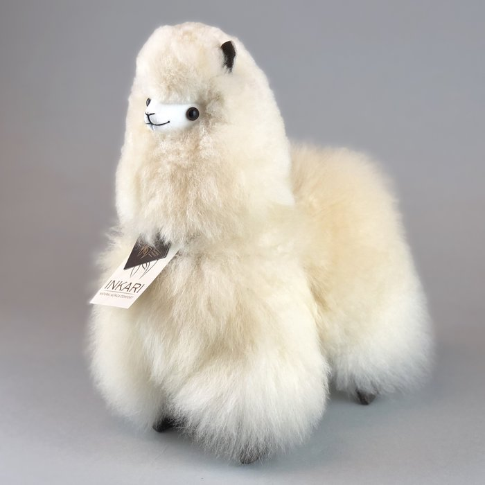 Suri Alpaca Wool Toy - Soft & Fluffy - Handmade in Peru - Hypoallergenic - Blond