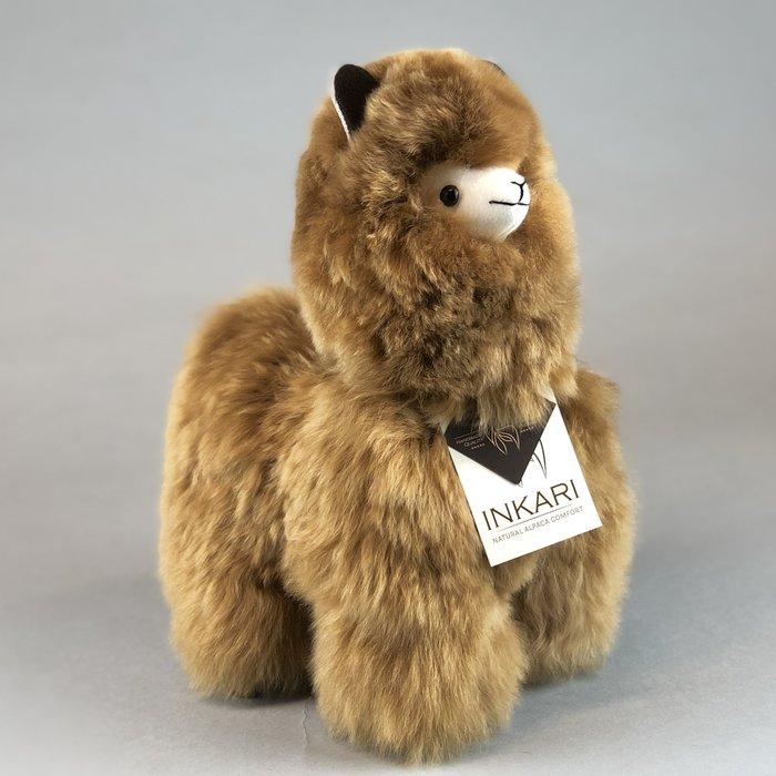 Suri Alpaca Wool Toy - Soft & Fluffy - Handmade in Peru - Hypoallergenic - Hazelnut