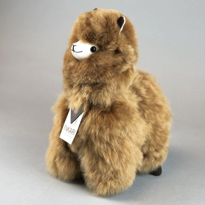 Alpaca Knuffel - Suri alpacawol - Handgemaakt van Alpacawol - Hypoallergeen - Hazelnoot
