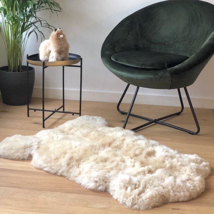 'Reina' - Handgemaakt Alpaca Kleed - Blond