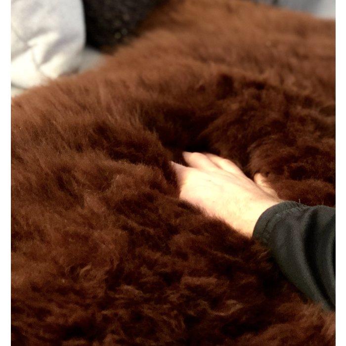 'Reina' - Handgemaakt Alpaca Kleed - Walnoot