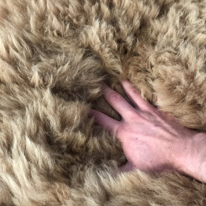 'Reina' - Handmade Alpaca Rug - Limited Edition - Wolf