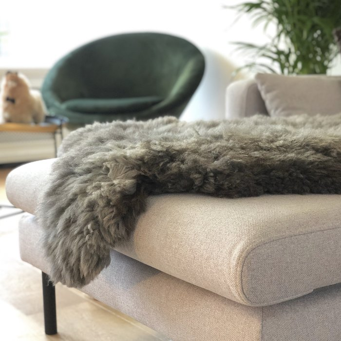 'Reina' - Handgemaakt Alpaca Kleed - Limited Edition - Wolf