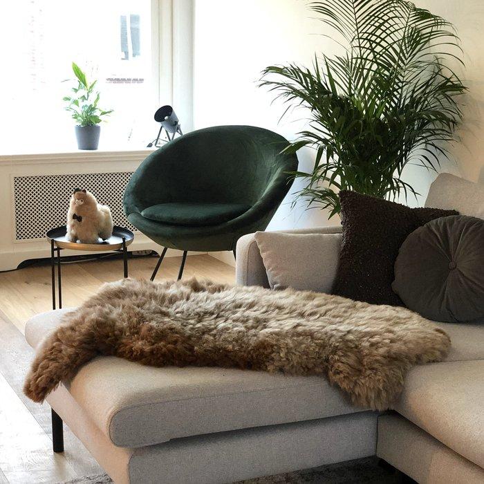 'Reina' - Handgemaakt Alpaca Kleed - Limited Edition - Sneeuwluipaard