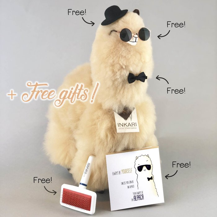 ❤ Alpaca Toy ❤ Alpaca Plushie ❤ Blond ❤ XL ❤