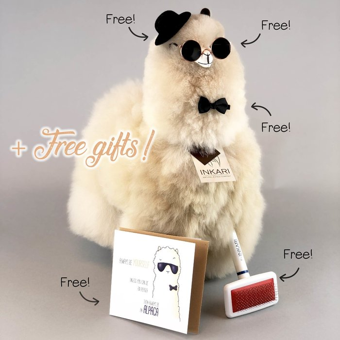 Big Alpaca Toy ❤  Stuffed Animal ❤  Sahara
