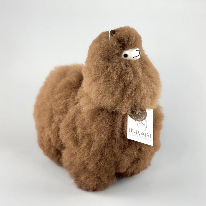 Alpaca Knuffel - Medium - Handgemaakt van Alpacawol - Hypoallergeen - Walnoot