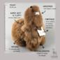 Alpaca Toy - Soft & Fluffy - Medium - Handmade in Peru - Hypoallergenic - Walnut