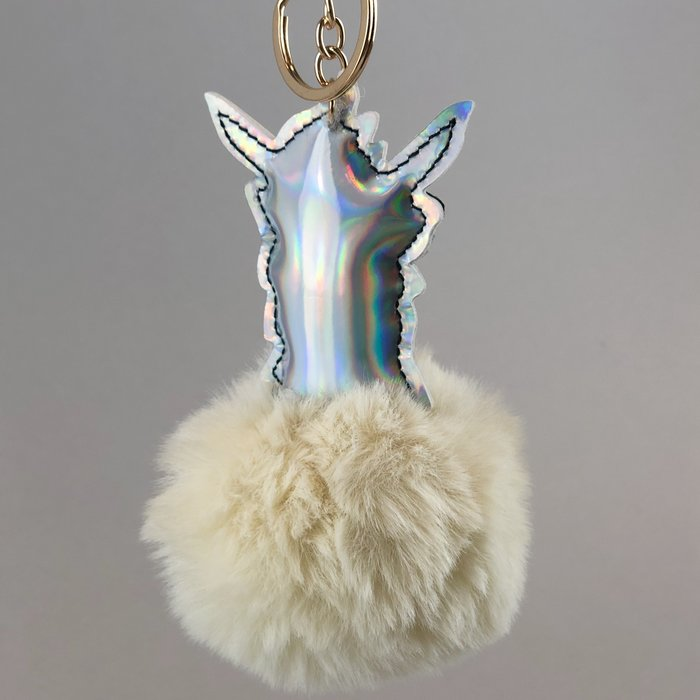 'Cool & Fluffy' - Alpaca Sleutelhanger' - Faux Fur