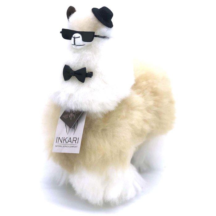 Alpaca Toy - Soft & Fluffy - Medium - Handmade in Peru - Hypoallergenic - Beige/Ivory