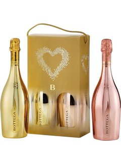 Bottega Bottega Gold Prosecco  & Bottega Gold rosé in giftpack