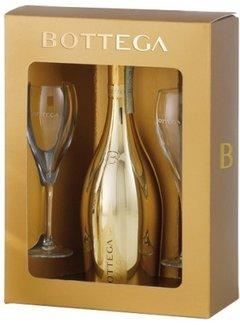 Bottega Bottega Gold Prosecco  inclusief 2 flutes - in geschenkverpakking