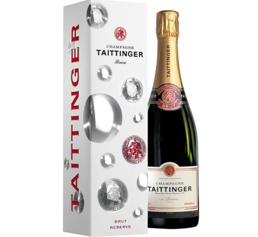 Champagne Taittinger Brut Réserve in Geschenkbox -75 cl - eindejaarskorting