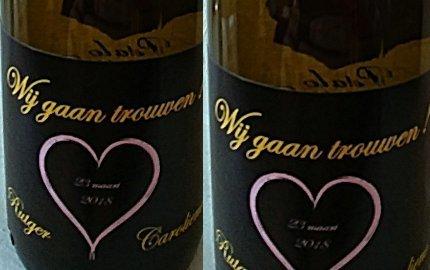 Eigen etiket op uw flessen