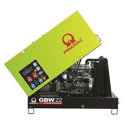 Pramac GBW22P Diesel generator 400V met Perkins motor 19,4 kVA