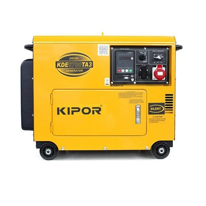 Kipor KDE6700TA3 AVR Generator equipped with a Kipor four-stroke diesel engine
