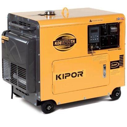 Kipor KDE6700TA AVR Generator equipped with a Kipor four-stroke diesel engine