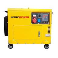 Mitropower PM7000TD3 - 155 kg - 5.7 kVA - 67 dB - Aggregaat