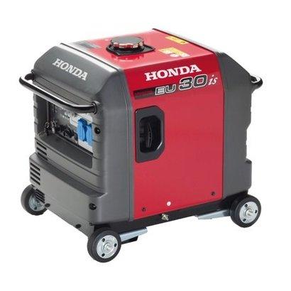 Honda EU30is geluidsarme benzine aggregaat op 4 wielen