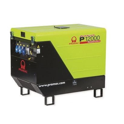 Pramac P12000 Groupe Électrogène 13,9 kVA Essence 400V avec AVR et Prise CONN PRAMAC