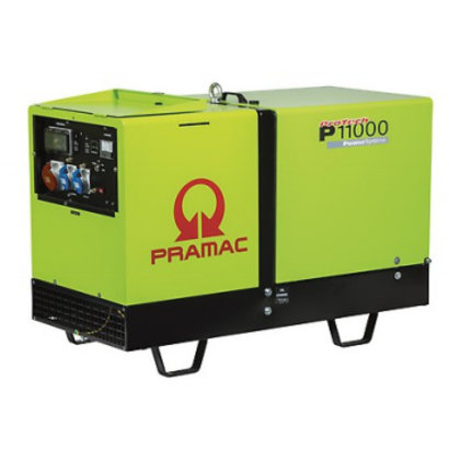 Pramac P11000 400V Diesel generator with a big tank.