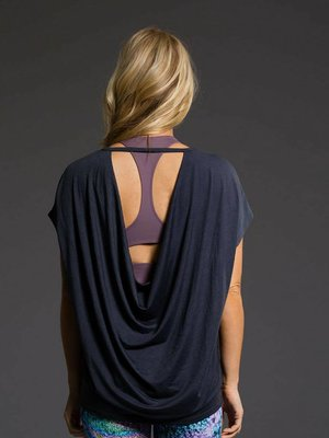 Onzie Yoga Wear Drop Back Top - Midnight (S-L)