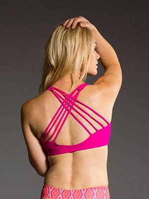 Onzie Yoga Wear Chic Bra Top - Summer Rose (XS/S/M/L)