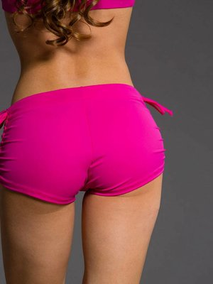 Onzie Yoga Wear Side String Short - Summer Rose (S/M)