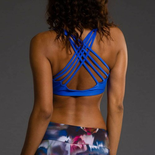Onzie Yoga Wear Chic Bra Top - Moonlight Blue (M/L)
