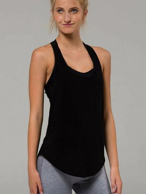 Onzie Yoga Wear Glossy Flow Tank - Black
