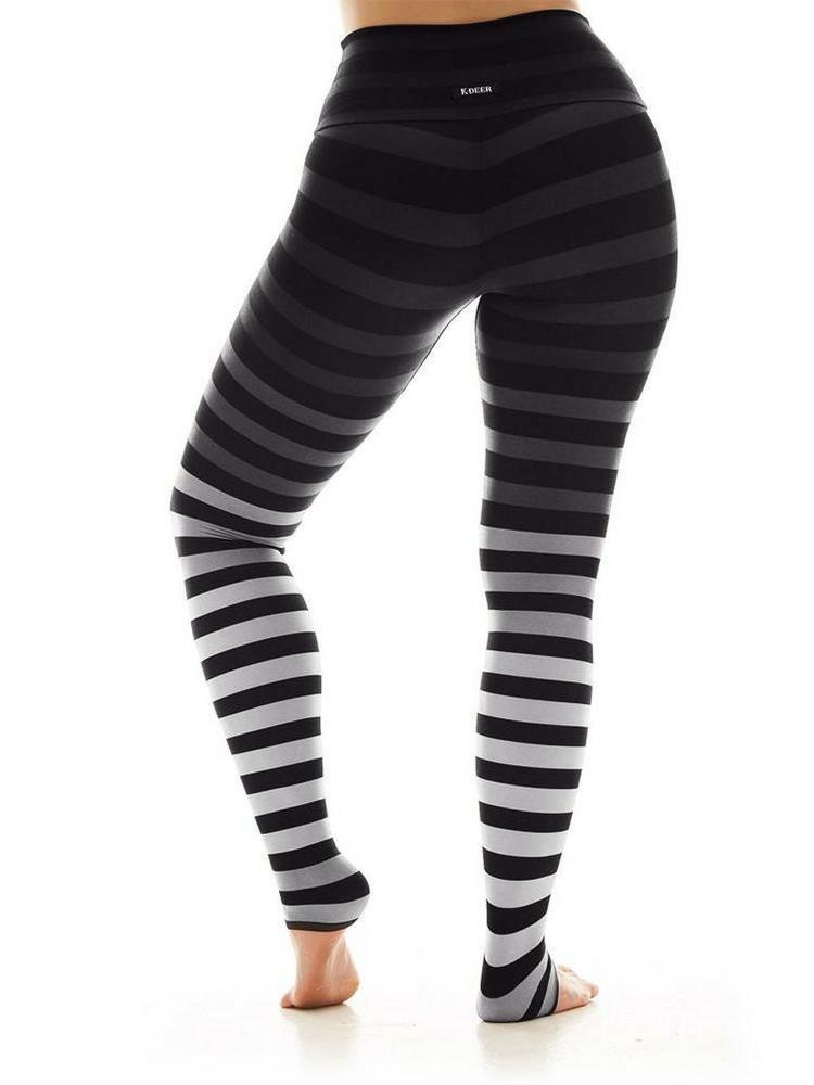 daff8d83d53c K-DEER Stripe Leggings - Jody grey | yoga legging fashion - YogaHabits