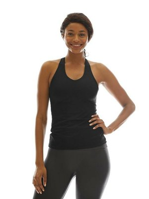 K-DEER Tank Top with Shelf Bra - Solid Black (XS)