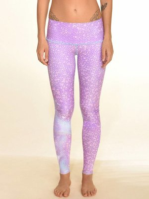 Teeki Yogakleding Mermaid Fairyqueen Lavender - Hot Pants Legging (L)
