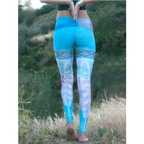 Teeki Yogakleding Tarot Magick - Hot Pants Legging (L)