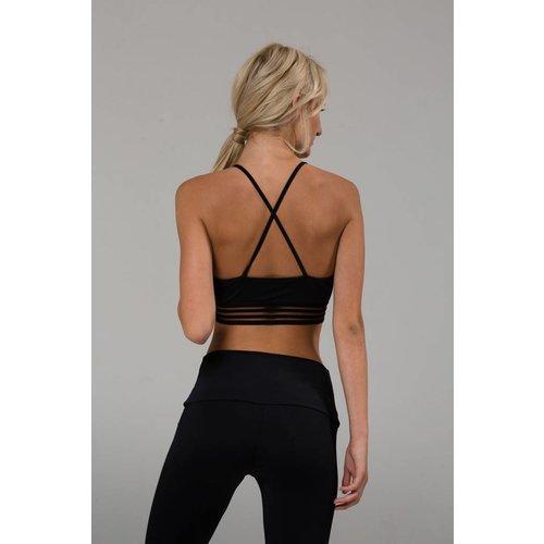 Onzie Yoga Wear Ritz Bra - Black (XS/S/M/L)